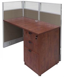 """48""""W x 24""""D x 48""""H Value Series Add-On Cubicle"""