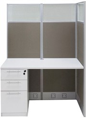 """48""""W x 24""""D x 67""""H Value Series Add-On Cubicle"""