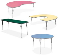 "Adjustable Height Activity Tables -  36"" x 24"" Rectangular"