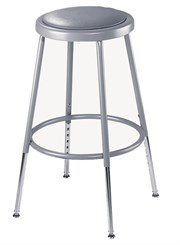 "Adjustable Height Heavy-Duty Padded Lab Stools - 19""H-27""H Lab Stool"