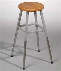 Adjustable Height Lab Stool Without Back