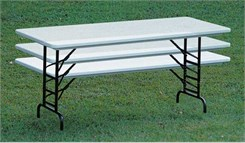 "Adjustable Height 24"" x 48"" Resin Folding Table in 6 Colors! Other Sizes Available."