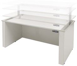 Adjustable Height Executive Office Desk in White