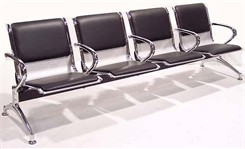 Beam Seating w/Vinyl Padded Seating Inserts - 2-Seater w/Table