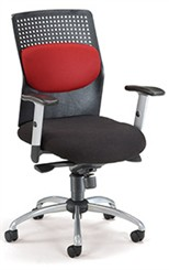Air-Flo Office Chair with Silver Accents