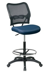 "Air Grid Stool w/ Seat in 14 Fabric Choices!  27-1/2""-32-1/2"" Seat Height"