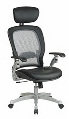 Air Grid Ergo-Adjust Chair with Headrest