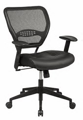 Air Grid Deluxe Task Chair with Leather Seat