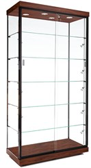 "40""W Aluminum Frame Display Case w/ Micro Halogen Spotlights"
