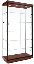 "40""W Aluminum Frame Display Case w/ Micro Halogen Spotlights"