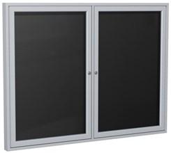 "Aluminum Frame Enclosed Letter Board - 60"" X 36"" 2 Door"