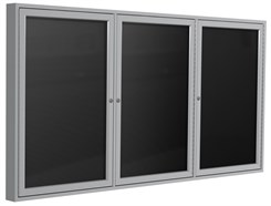 "Aluminum Frame Enclosed Letter Board - 72"" X 36""  3 Door"