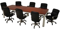 Alumina 10� Cherry Veneer Meeting Table