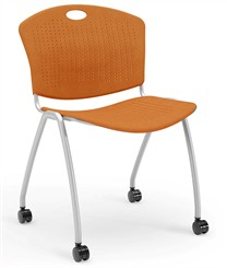 Anytime Stackable Chair with Casters & No Arms