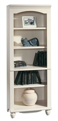 Antiqued White Bookcase