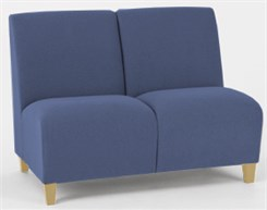 2 Seat Armless Sofa in Standard Fabric or Vinyl
