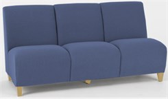 3 Seat Armless Sofa in Standard Fabric or Vinyl