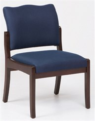 Franklin Armless Chair in Standard Fabric or Vinyl