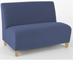 Armless Loveseat in Standard Fabric or Vinyl
