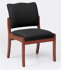 Franklin Armless Chair in Upgrade Fabric or Healthcare Vinyl