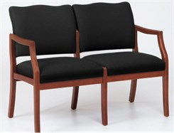 2 Seat Loveseat in Upgrade Fabric or Healthcare Vinyl