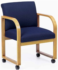 Arm Chair w/Casters in Standard Fabric or Vinyl