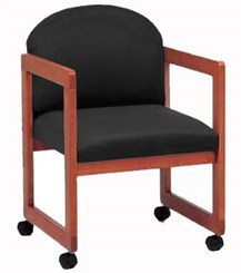 Arm Chair w/Casters in Upgrade Fabric or Healthcare Vinyl