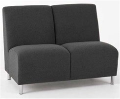 2-Seat Armless Sofa in Standard Fabric or Vinyl