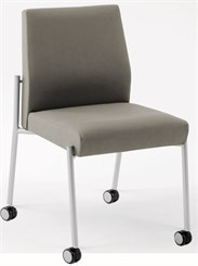 Armless Guest Chair w/Casters in Upgrade Fabric or Healthcare Vinyl