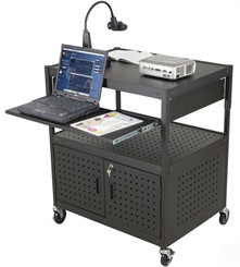 Height Adjustable AV Cart