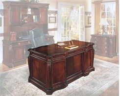 "Balmoor 66"" Executive Desk with Shaped Top"