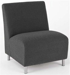 Bariatric Armless Guest Chair in Standard Fabric or Vinyl