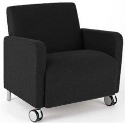 Bariatric Guest Chair w/ Casters in Upgrade Fabric or Healthcare Vinyl