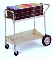 Deluxe Basket & Shelf Mail Cart