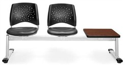 2-Seat + Table Beam Seating with Vinyl Padded Seats