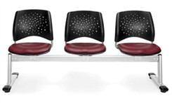 3-Seat Beam Seating with Vinyl Padded Seats