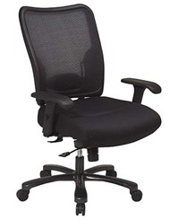 Big & Tall Professional Mesh Back Knee Tilt Chair - 400 lb. Capacity