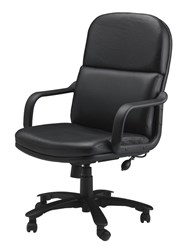Big & Tall Executive Chair in Black Leather