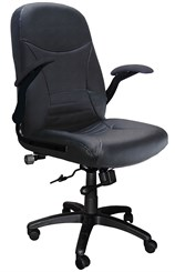 Big & Tall Pivot Leather Arm Chair w/Inflatable Lumbar - 450 lb. Capacity