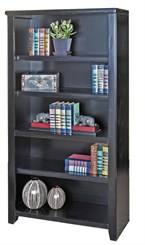 "60""H Black Bookcase"