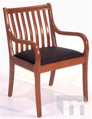 Cherry Slat Back Guest/Reception Chair