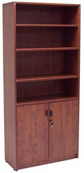 2-Door Cherry Laminate Bookcase
