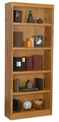 "72""H x 30""W Oak Bookcase"