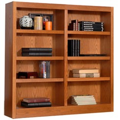 "48""H x 48""W Oak Bookcase"