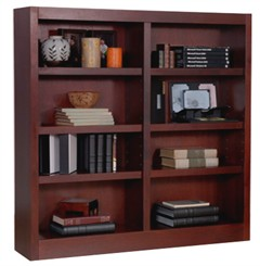 "48""H x 48W Cherry Bookcase"
