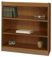 "36""W x 36""H Wood Bookcase"