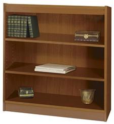 "36""W x 36""H Wood Bookcase"