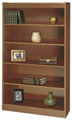 "36""W x 60""H Wood Bookcase"