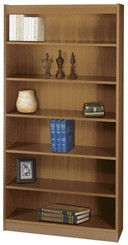 "36""W x 72""H Wood Bookcase"