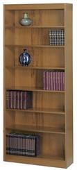 "36""W x 84""H Wood Bookcase"